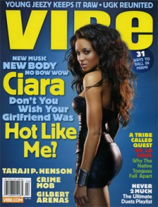 Singer Ciara graces the cover of Vibe Magazine.