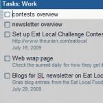 A screenshot of my Tasks in Gmail.